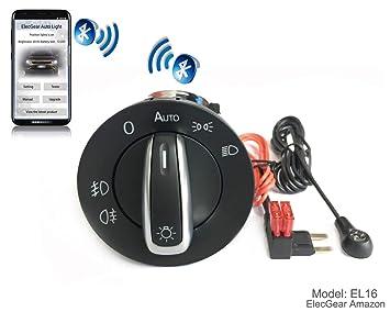 EL16 Bluetooth App Sensor de luz Faros interruptor, Faro Niebla Luces Antiniebla Interruptor de luz