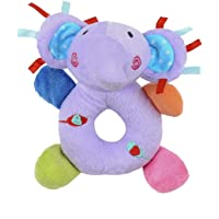 Baby Toys Cute Cartoon Animal Design Baby Boy Girl Rattles Hand Bell Infant Toddler Plush Toys Gift