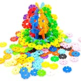 AMTOYS Snow Flakes 400 Discs | STEM Educational Brain Building Toy | Interlocking Plastic Construction Connect Set | Promotes Fine Motor Skills Development - Therapy Tools