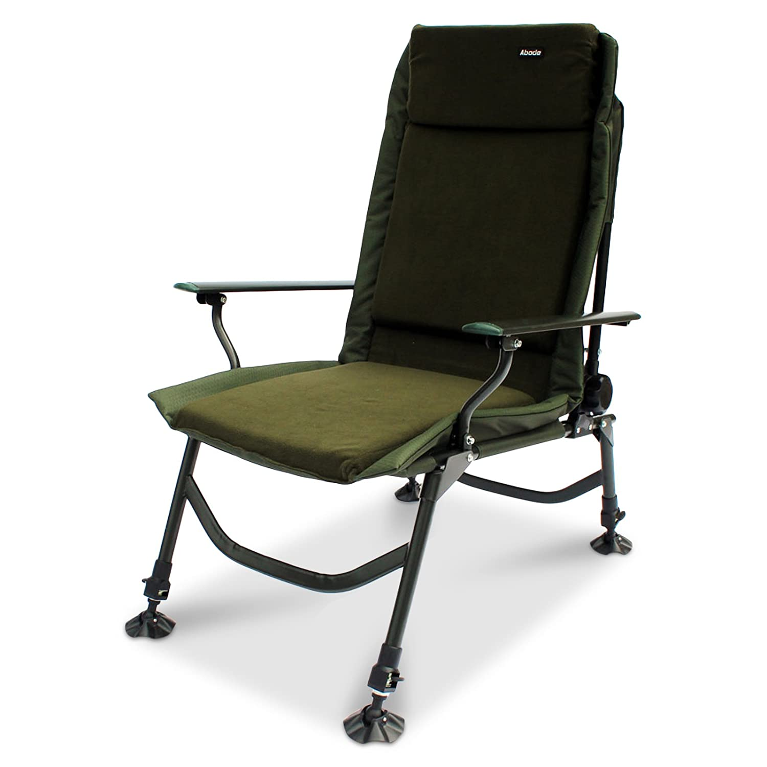ABODE Air-Lite Alloy Fleece Easy-Arm Carp Fishing Camping Recliner Chair Koala Products