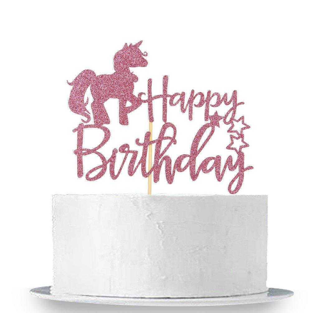 Glitter Unicorn Cake Picks