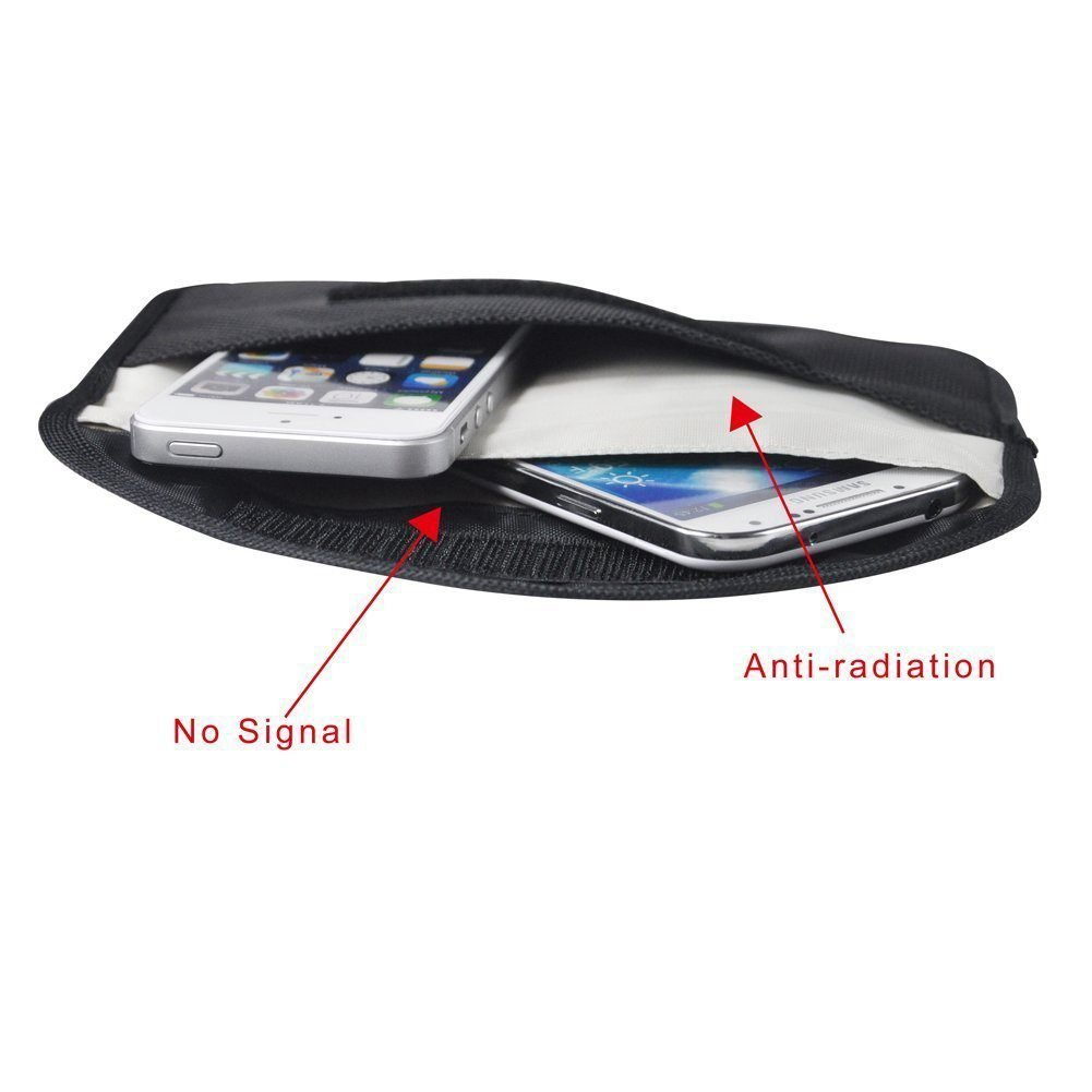 SODIAL 100% Anti-Tracking Anti-Spying GPS RFID Signal Blocker Pouch Case Bag Handset Function Bag for Cell Phone Privacy Protection and Car Key FOB