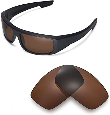 Walleva Replacement Lenses for Spy Optic Logan Sunglasses - Multiple  Options Available (Brown - Polarized) at Amazon Men's Clothing store