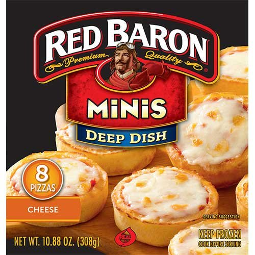 Red Baron Deep Dish Cheese Pizza, 10.88 Ounce -- 12 per case.