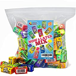 Now and Later Candy Assorted Mini Bars 3LB Bulk Candy