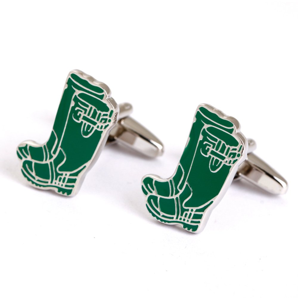 Most Popular Style Cufflinks Green Rain Boots Cufflinks For Male And Female Mens Shirt