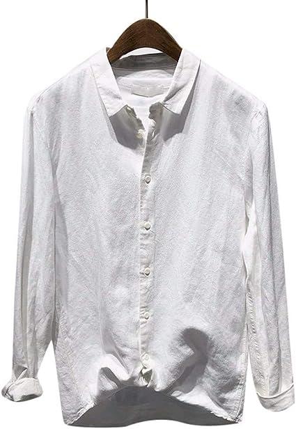 Camisa de manga larga de algodón para hombre, de talla grande, de rayas, para negocios, trabajo, para ocio, color negro, azul y gris, 5 XL multicolor blanco XXXL: Amazon.es: Belleza