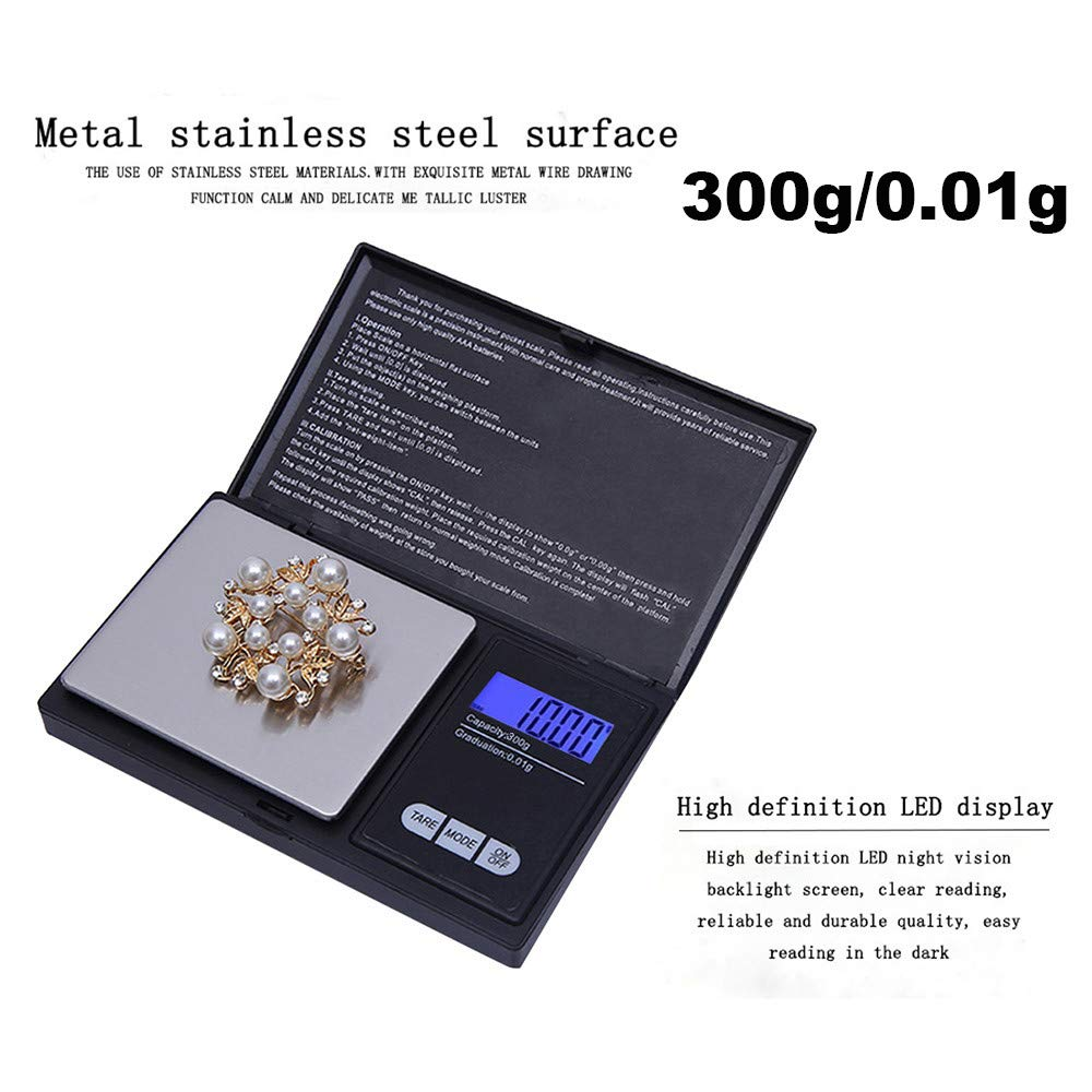 Ugood 2019 300g/0.01g High Precision Digital Electronic Scale for Jewelry Reloading Kitchen by Ugood_ (Image #6)