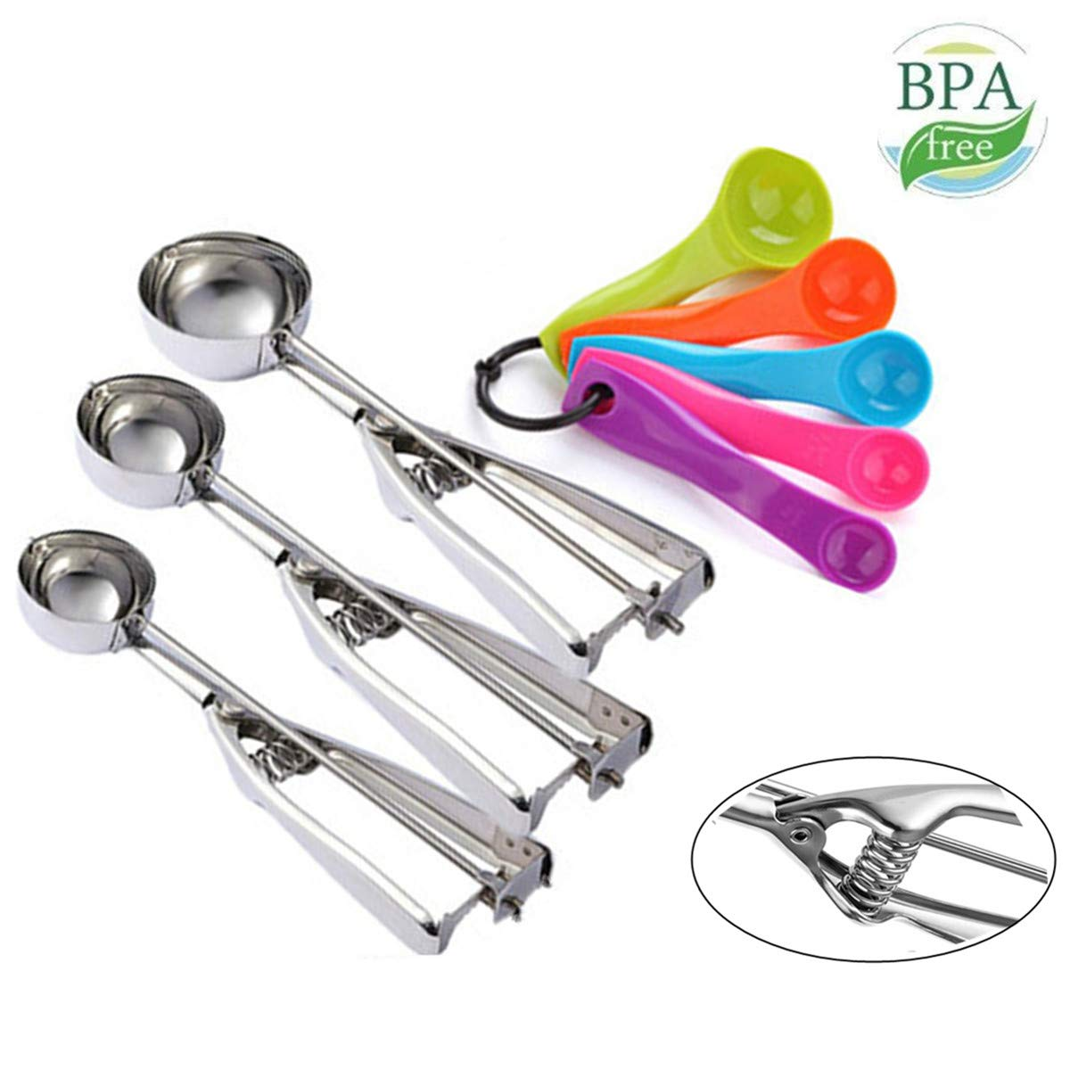 3 piece stainless steel scoop set featured by top US food blog, Practically Homemade