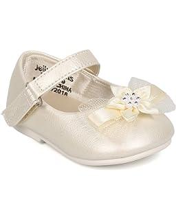 298cece04e93 Jelly Beans FA08 Leatherette Mesh Bow Mary Jane Ballerina Flat (Infant Girl  / Toddler Girl