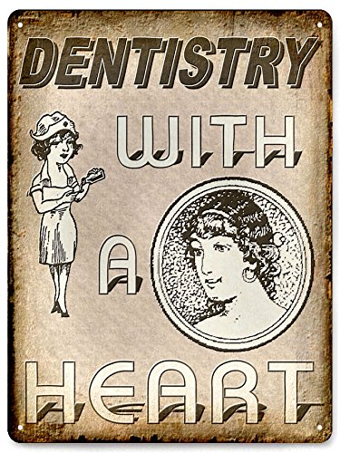 Dentist Office Metal Sign Vintage Antique Style Teeth Cleaning Display Wall Decor 477