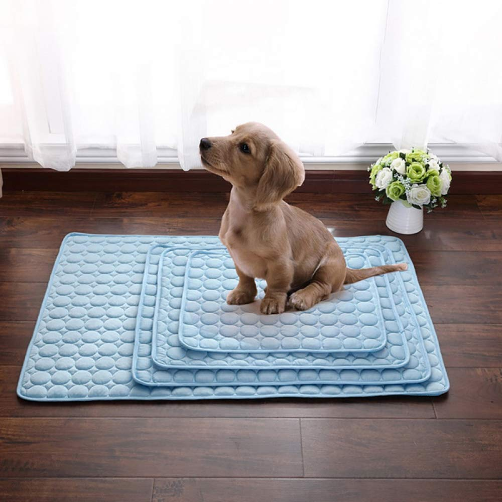 Random 102x70cmZYJSDQD 1pc Cooling Pet Cushion Beds For Dog Dog Cushions For Travel Car Seat Dog Mat Plaid Easy Clean Dogs