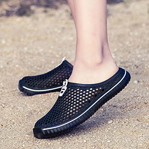 Beach Black Mesh Slippers Couple Sport HLHN Out Outdoor Men Women Sandals Quick Drying Unisex Hollow Barefoot Breathable Shoes a55xTpq