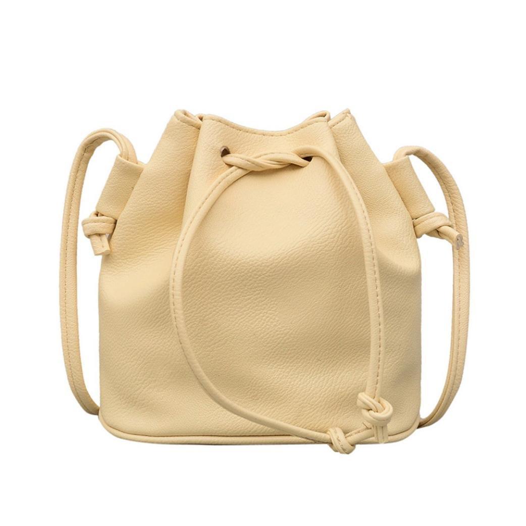Dragon868 Elegante Sac bandoulière en cuir Femme Couleur Pure Sac à bandoulière Messenger Bag Sac à main Satchel jaune