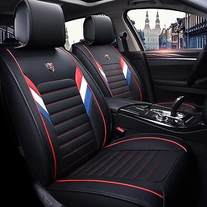 Cubiertas de asiento de coche Skoda Superb Fit-Juego Completo De Cuero Sintético Negro