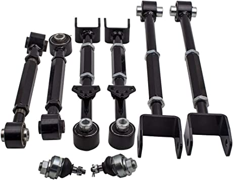 Adjustable Rear Camber Control Arms Toe Kit for Acura TSX 2009-2013 W//Ball Joint