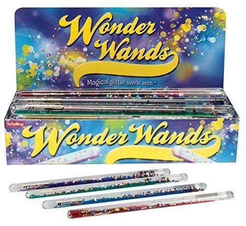Glitter Wand Fidget Spiral Mystical Glitter Tube Set of 2! Party Favor Glitter Wonder Wand (11 Inch Stars And Moon) by Star Magic