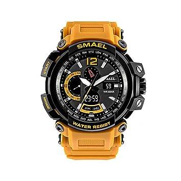 Reloj militar SMAEL, resistente al agua a 50 metros y resistente a los golpes.