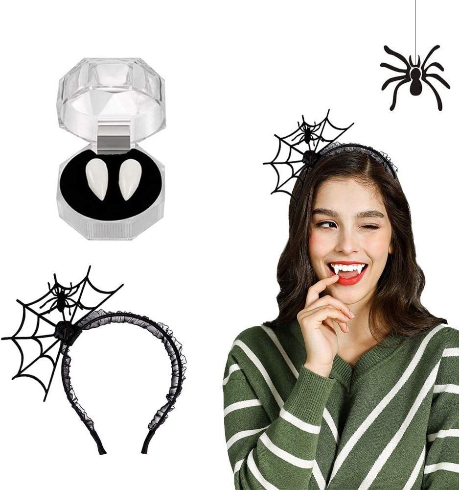 Luxital Halloween Costume Makeup (Vampire and Hairband)