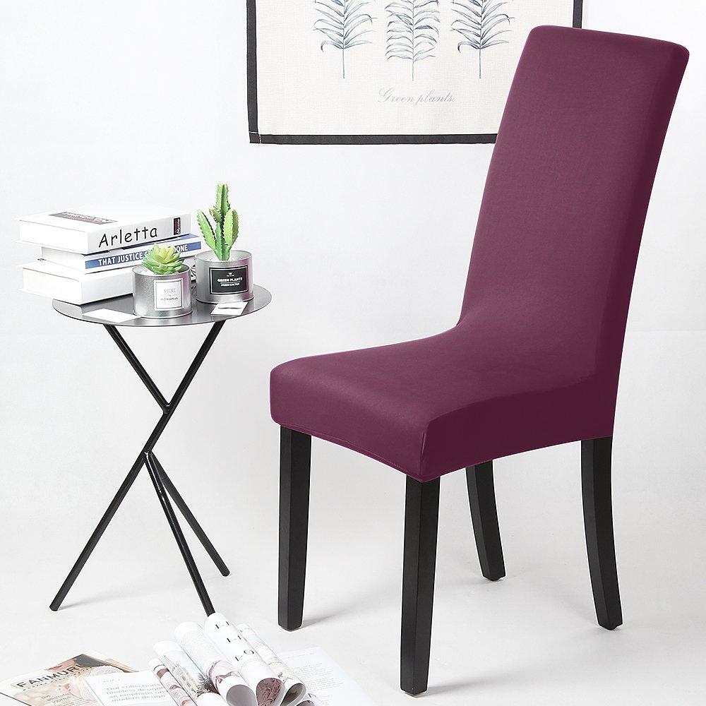Saintderg Housse De Chaise 4 Pieces Housse De Protection Elastique