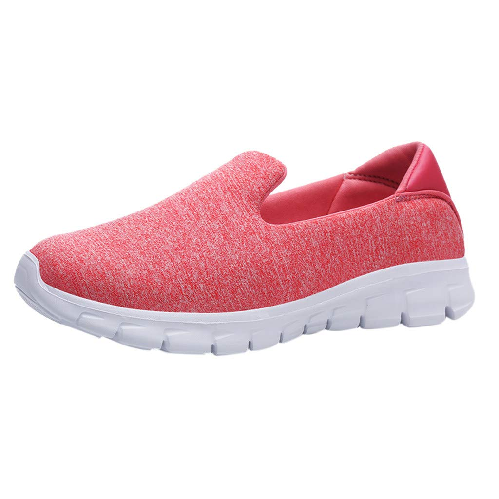 Mysky Fashion Women Casual Comfortable Breathable Pure Color Weight Slip On Lazy Wild Sneakers