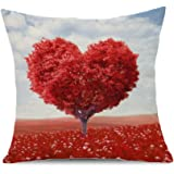 "SLS Cotton Linen Decorative Throw Pillow Case Cushion Cover Happy Day 18 ""X18 "" (23)"