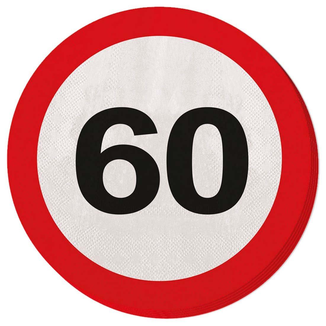 Toalla de papel para fiesta Servilletas 60 cumpleaños señal ...
