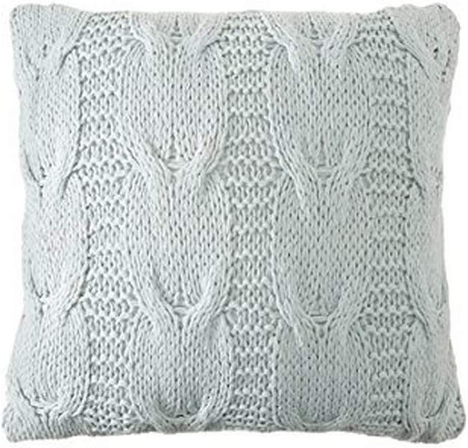 Be-You-tiful Home Michaela Aqua Knitted Pillow, 20 by 20-Inch