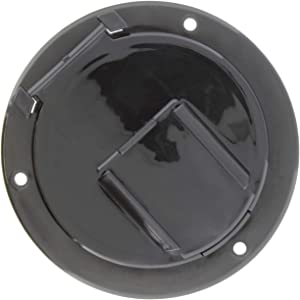 Dumble Round Electric Cable Hatch for 50 Amp RV Electric Cord – RV Camper Electric Cord Cover, Black
