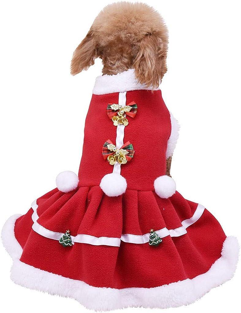 HappyShopYZ Otoño Invierno Moda Ropa para Mascotas Gatos Perros Vestido Vestido de Navidad Sudaderas con Capucha: Amazon.es: Ropa y accesorios