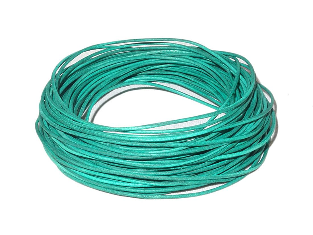 Natural Dye cords craft 1.0mm Genuine Round Leather Cord Leather String Matte Finish for Jewelry Making Bracelet Necklace Beading 10.93 Yards 10 Meters