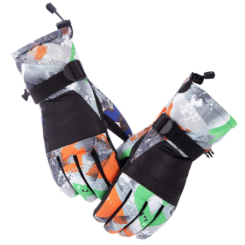 Ski Gloves, Cold Weather Waterproof Glove Magic Stretch Winter Warm Snow Gloves for Mens, Womens, Boys, Girls