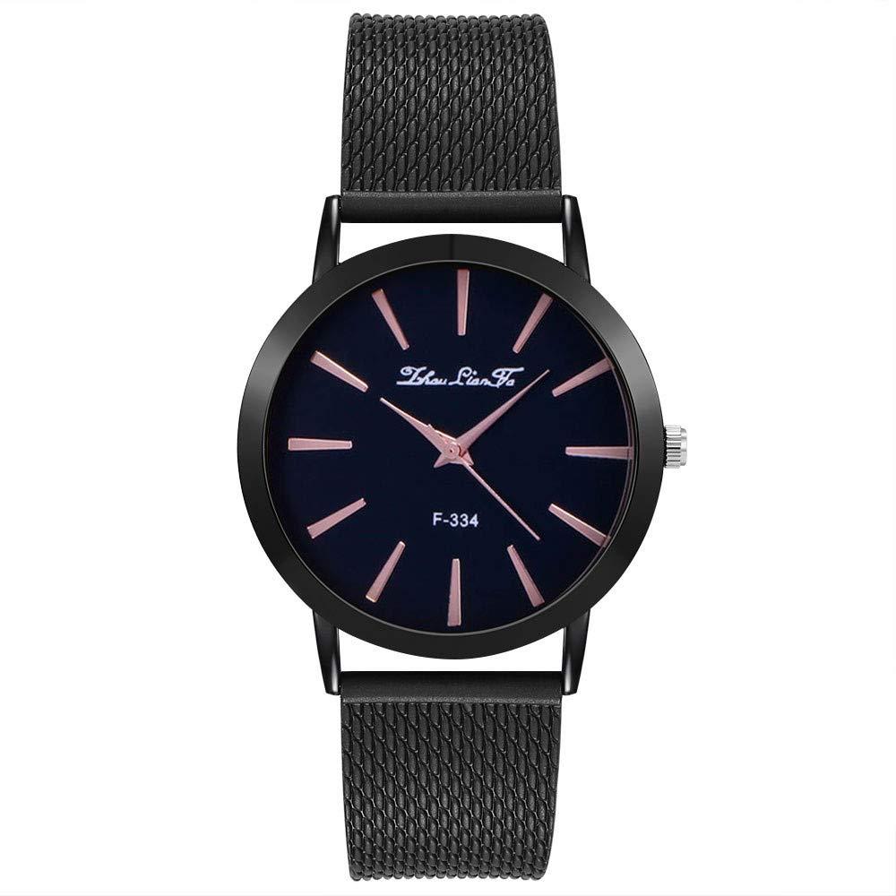 Womens Watches On Sale, VANSOON Fashion Luxury Leisure Auger Silicone Strap Stainless Steel Quartz Wrist Watch Teen Girls Dress Watches Bracelet Watch Clearance