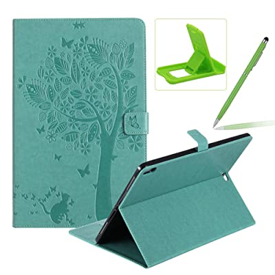 Flip Case for 2020 iPad Pro 12.9 Smart Leather Cover,Herzzer Retro Pretty Tree Butterfly Cat Design Wallet Folio Case for iPad Pro 12.9 (2020 Release,3rd Generation)+Phone Kickstand+Stylus Pen,Green: Musical Instruments