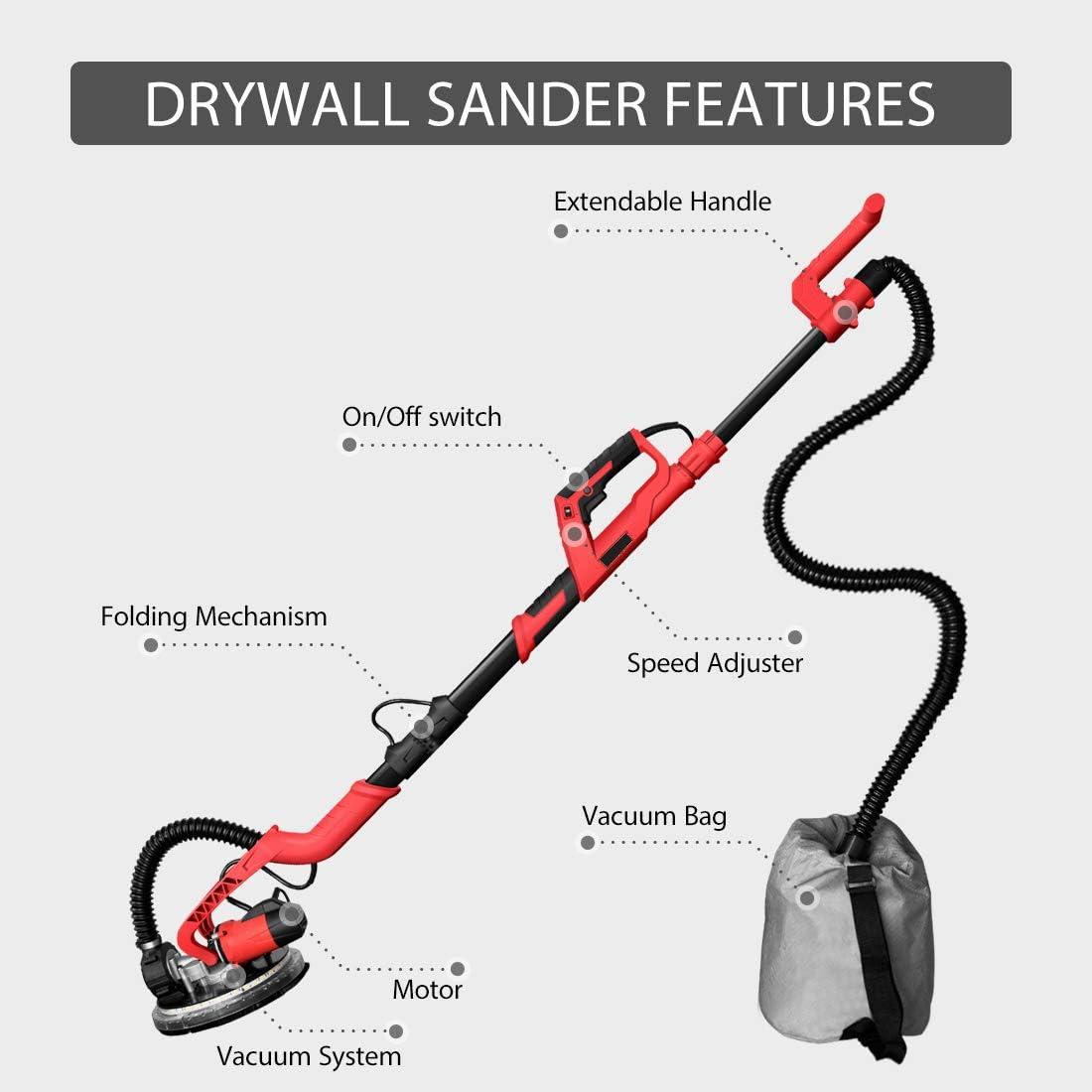 1850 LED Light POWER PRO 1850 Electric Drywall Sander Variable ...