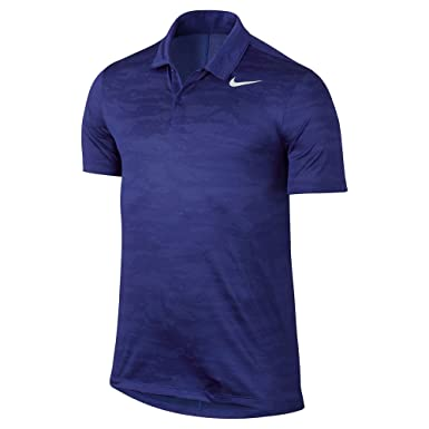 Nike Golf Men's 2017 Icon Jacquard Polo, Deep Night/Medium Blue/White,