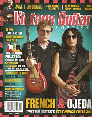 Vintage Guitar Magazine (October 2014,Jack White) for sale  Delivered anywhere in USA