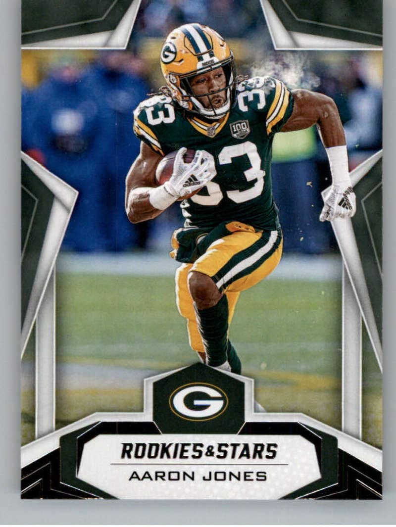 Amazon Com 2019 Rookies And Stars Football 78 Aaron Jones Green Bay Packers Official Panini Nfl Trading Card Collectibles Fine Art
