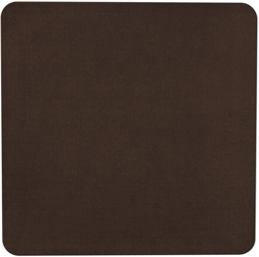 House, Home and More Skid-Resistant Carpet Indoor Area Rug Floor Mat - Chocolate Brown - 4 Feet X 4 Feet