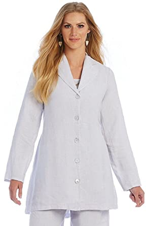 076fdba305a Bryn Walker Women s Linen Orlando Jacket Plume Lavender (Small) at ...