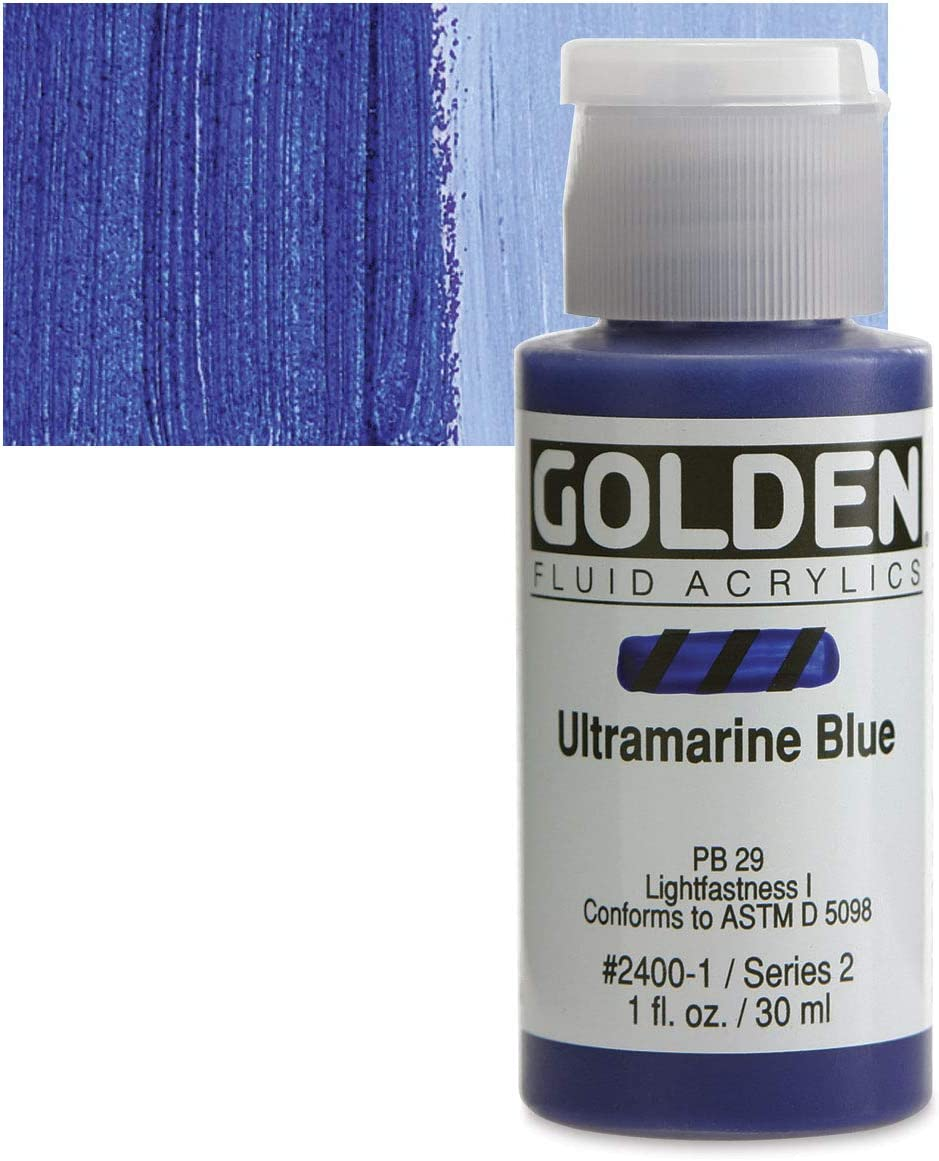 Acrilico Fluido Golden,30ml, Azul