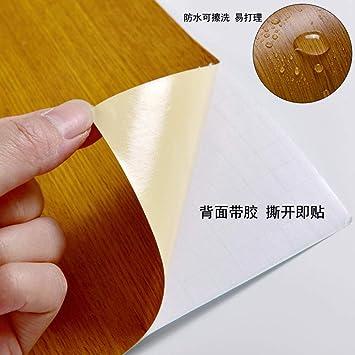 Simulación de escritorio de grano de madera autoadhesivo papel ...