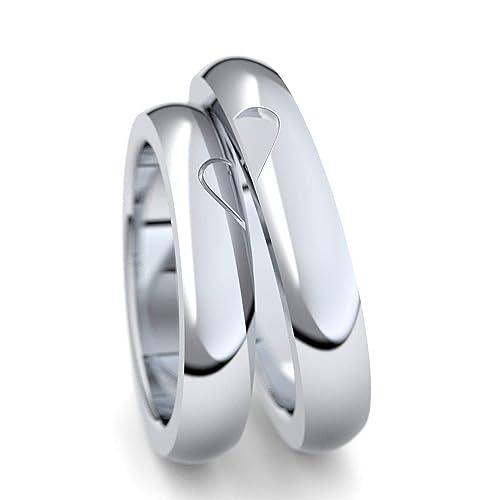 alianzas alianzas de anillos de compromiso Amistad Anillos Plata 925 * Incluye Luxus Funda * par