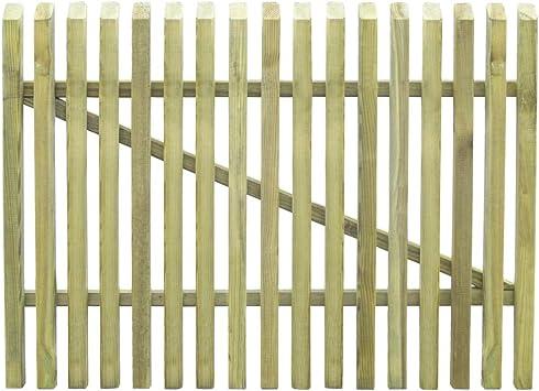 vidaXL Puerta de Valla de Jardín de Madera Pino Entrada Cercado Cerca 100x75 cm: Amazon.es: Bricolaje y herramientas