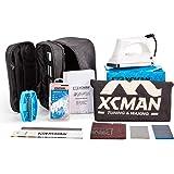 XCMAN Complete Ski Snowboard Tuning and Waxing Kit with Waxing Iron,Universal Wax,Edge Tuner,Brush,Wax Scraper,Ptex