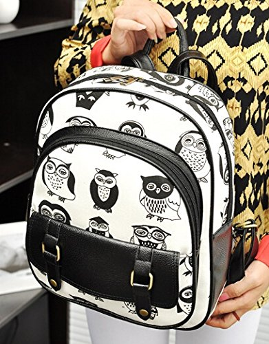 BEIER® LX12 New Personality Owl Printing Backpack Street Canvas bag Fashion Leisure