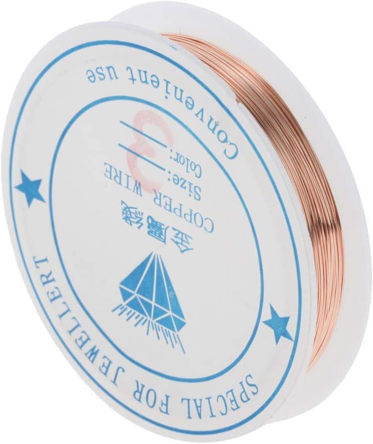 Filo Rotondo in Ottone Semi-Rigido Placcato Non Marca da 0,25 mm a 1 mm per creazione di Gioielli 0.25mm Light Brass