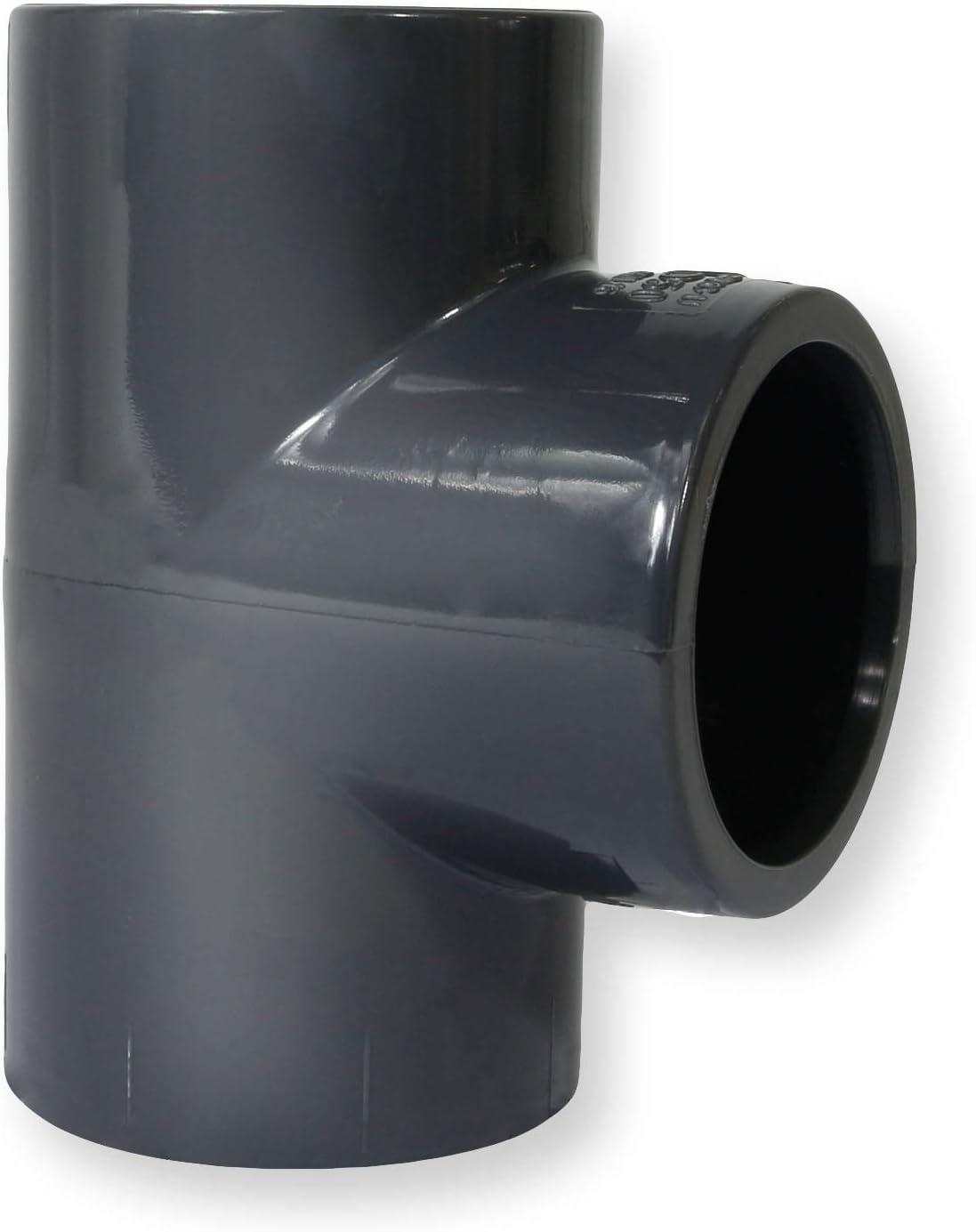 2 St/ück Paradies Pool PVC Fitting T-St/ück /Ø 50mm 90/° mit Klebemuffen Qualit/ät aus Europa Menge