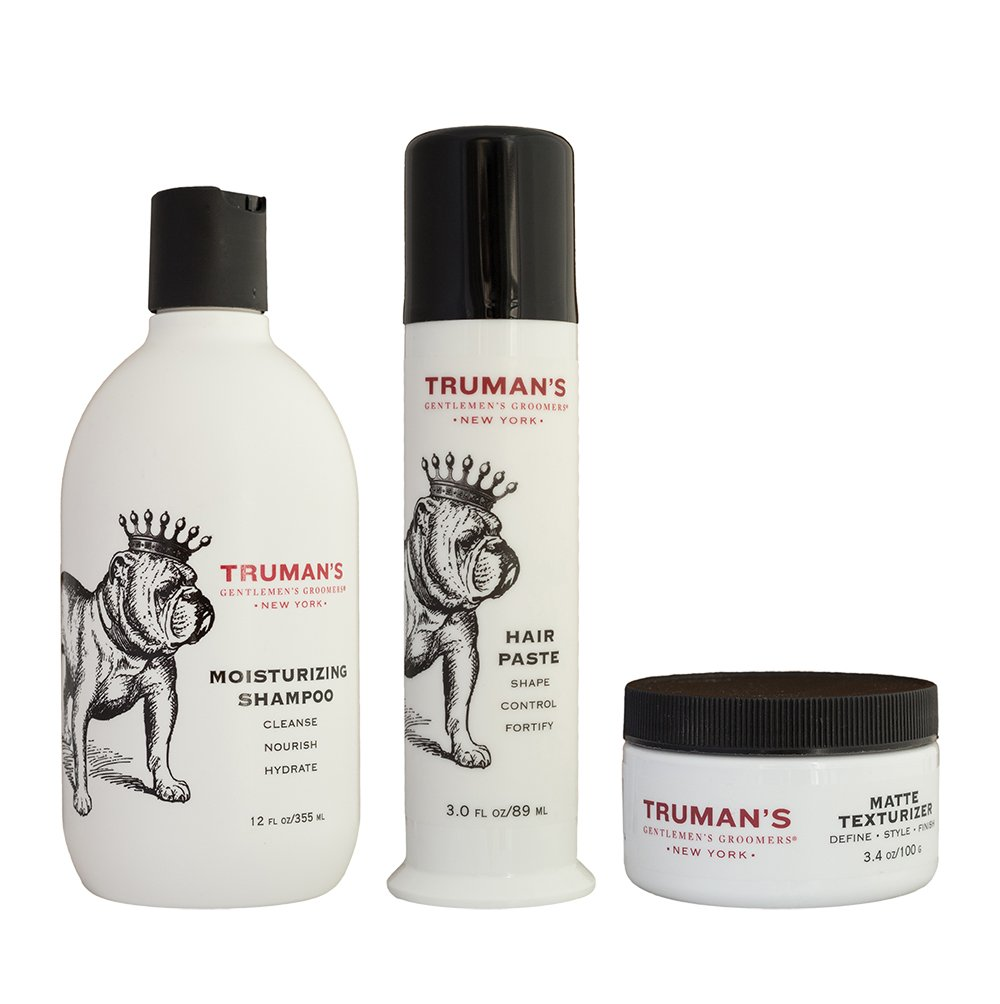Truman's Gentlemen's Groomers Men's Hair Styling Control Paste - Long-Lasting Hold Beeswax - Lanolin for Moisture - Pump Delivery System 3oz by Truman's Gentlemen's Groomers (Image #6)