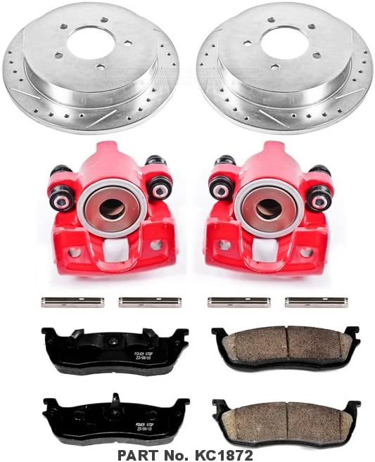 Rear Only Power Stop KC1872 1-Click Performance Brake Kit with Calipers
